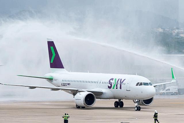 A chilena Sky Airline, segunda a ser autorizada a voar no país, faz desde novembro de 2018 voos ligando o Brasil ao Chile