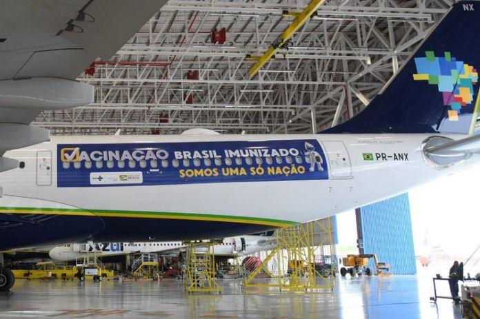 Avião que buscará vacinas na Índia parte amanhã à noite do Recife