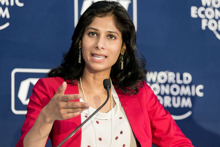 Gita Gopinath, Professor of Economics, Harvard University, USA at the India Economic Summit 2016 New Delhi, India, Copyright by World Economic Forum / Benedikt von Loebell #wef #ies16