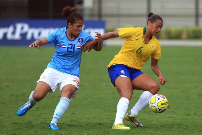 Brasil x Holanda - jogo da Copa do Mundo Feminina 2010