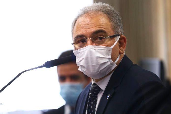 O ministro da Saúde, Marcelo Queiroga, é ouvido novamente durante sessão da CPI da Pandemia, no Senado.