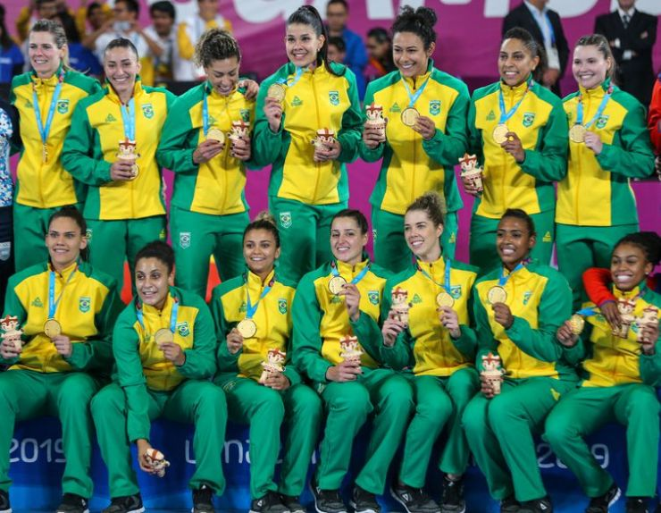 Brasil 31 x 20 Argentina. Final do handebol feminino dos Jogos Pan-Americanos Lima 2019