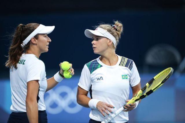 Stefani e Pigossi avançam às quartas - Tóquiio - tênis - duplas