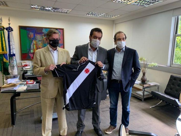 Vasco manifesta interesse de participar de licitação do Maracanã - Presidente Jorge Salgado, Governador Cláudio Castro e VP Geral Carlos Osório- em 06/04/2021