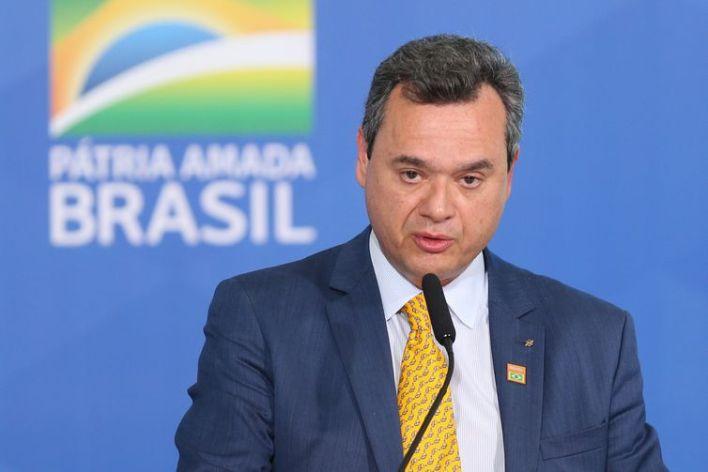 O presidente do Banco do Brasil, Fausto de Andrade Ribeiro, durante lançamento do Plano Safra 2021/22 no Palácio do Planalto.