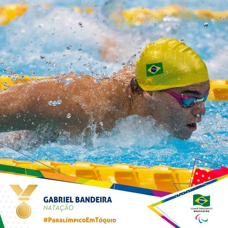 ouro natação Paralimpíada  - Gabriel Bandeira
