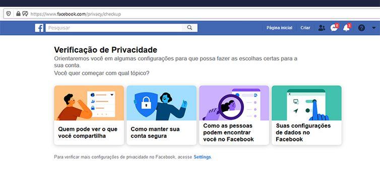 O Facebook oferece guias e opções de customização para usuários que desejam bloquear o compartilhamento de dados sensíveis.