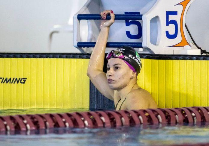 04.06.21 - Carol Santiago durante fase de treinamento seletiva da Natação para Tóquio no CT Paralímpico Brasileiro - CTP - seletiva