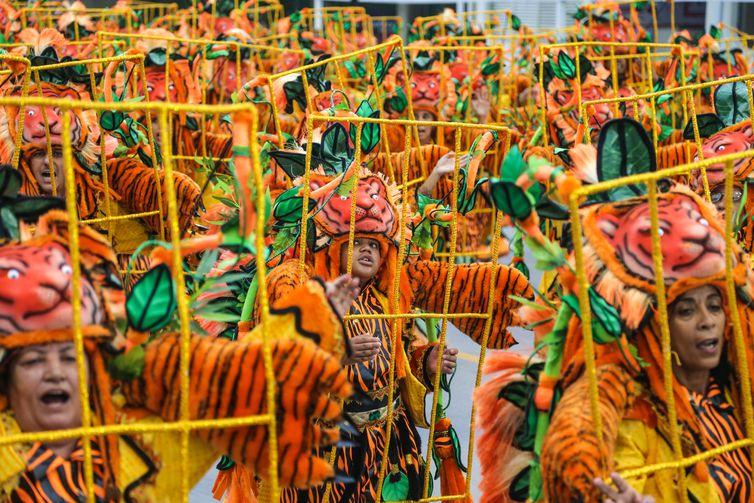São Paulo - Desfile da Águia de Ouro durante o primeiro dia de apresentações das escolas de samba do Grupo Especial de São Paulo (Filipe Araújo/LIGASP)