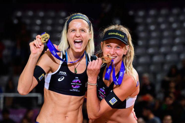 Campeã olímpica Ludwig (Esquerda) e sua parceira Kozuch se juntam as canadenses em desafio a ser realizado no Rio de Janeiro.