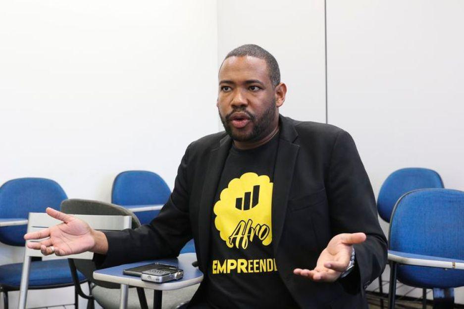 Brasília -  Personagem - empreendedor Diego Reis, da startup Afro Empreendedor.