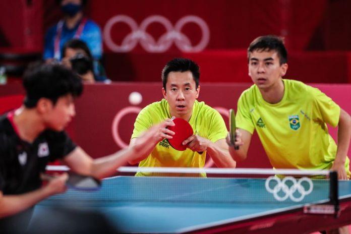 Gustavo Tsuboi e Vitor Ishiy perdem nas oitavas do tênis de mesa em Tóquio 2020 - Olimpíada