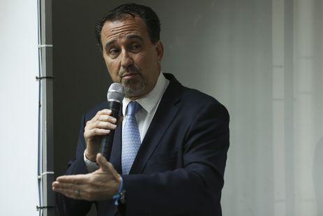 O ministro da Saúde, Gilberto Occhi, durante solenidade de assinatura de acordo com Instituto Tellus para implementar o Plano Nacional de Redução de Mortes e Lesões no Trânsito (Pnatrans).