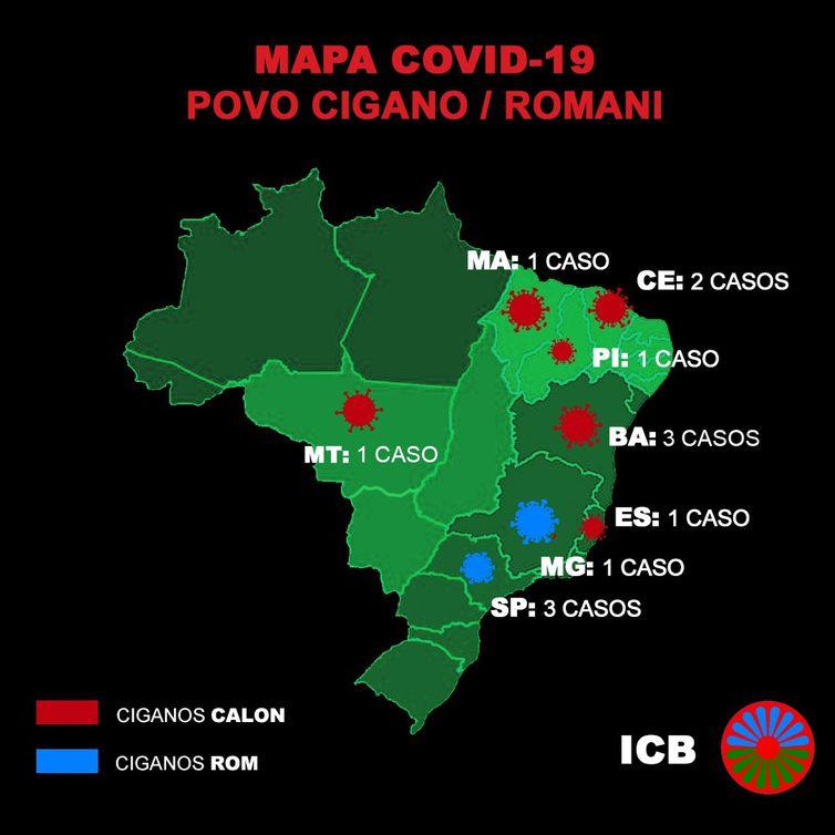 Casos de infecção por covid-19 no povo cigano.