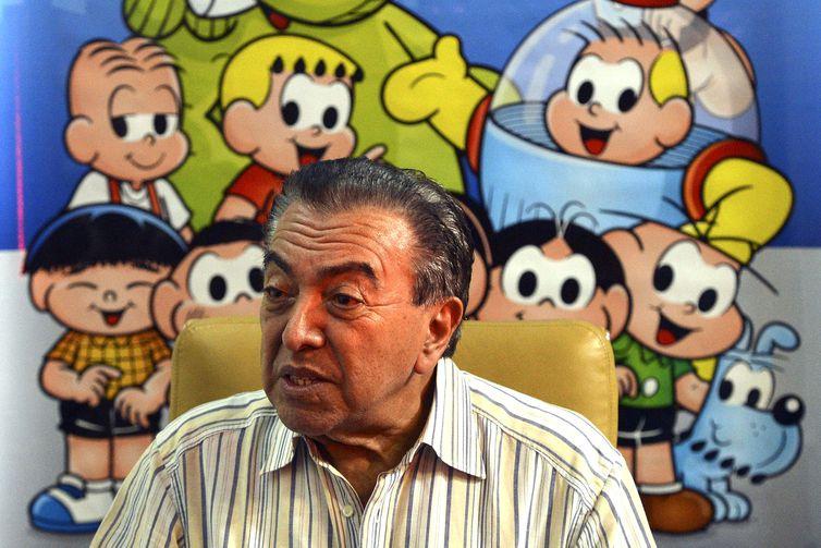 Brasília - O cartunista Maurício de Sousa fala sobre a parceria com o MEC para a realização do programa: Um por Todos e Todos por um! Pela Ética e Cidadania (Valter Campanato/Agência Brasil)