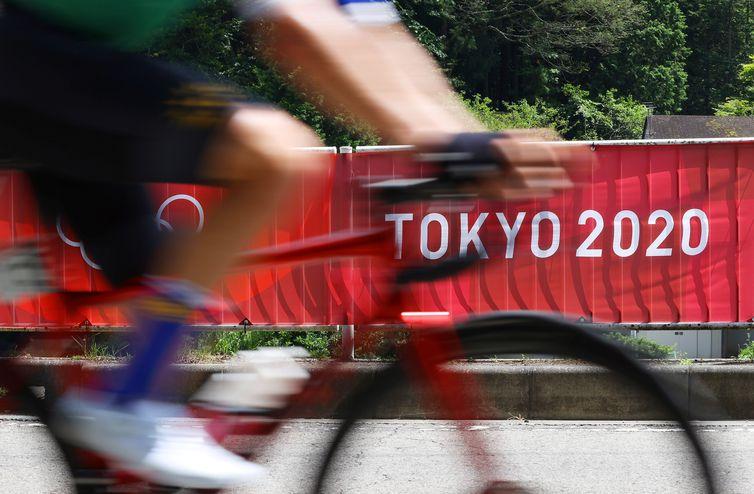 Prova de ciclismo durante a Olimpíada Tóquio 2020