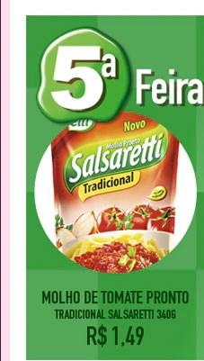 Molho de Tomate Pronto Tradicional                            SALSARETTI                            340g