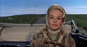 Tippi Hedren em cena do filme de 1963