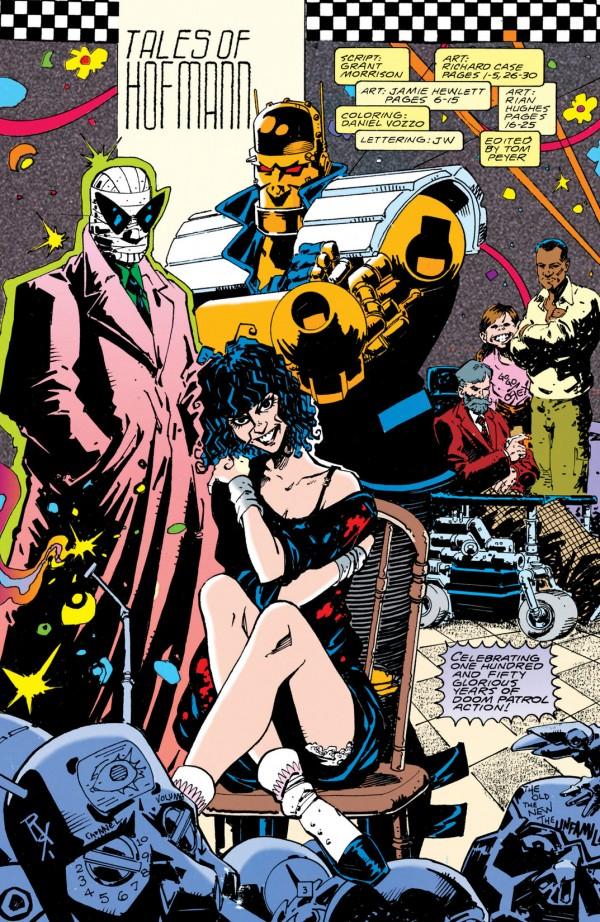 A versão de Grant Morrison, desenhada por Richard Case, do fim da década de 1980.