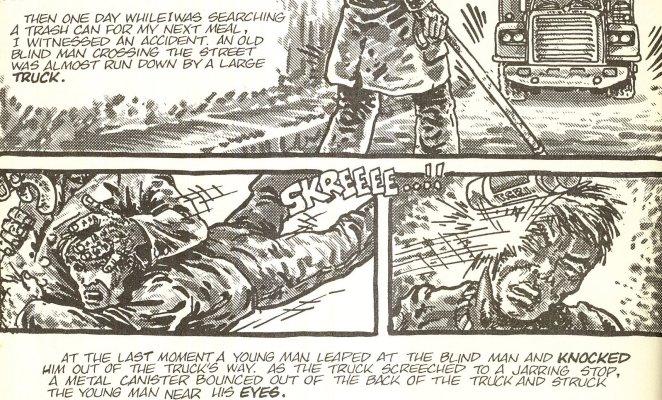 Uma ponta não-oficial de Matt Murdock, brincando de misturar a origem do Demolidor com a das Tartarugas!