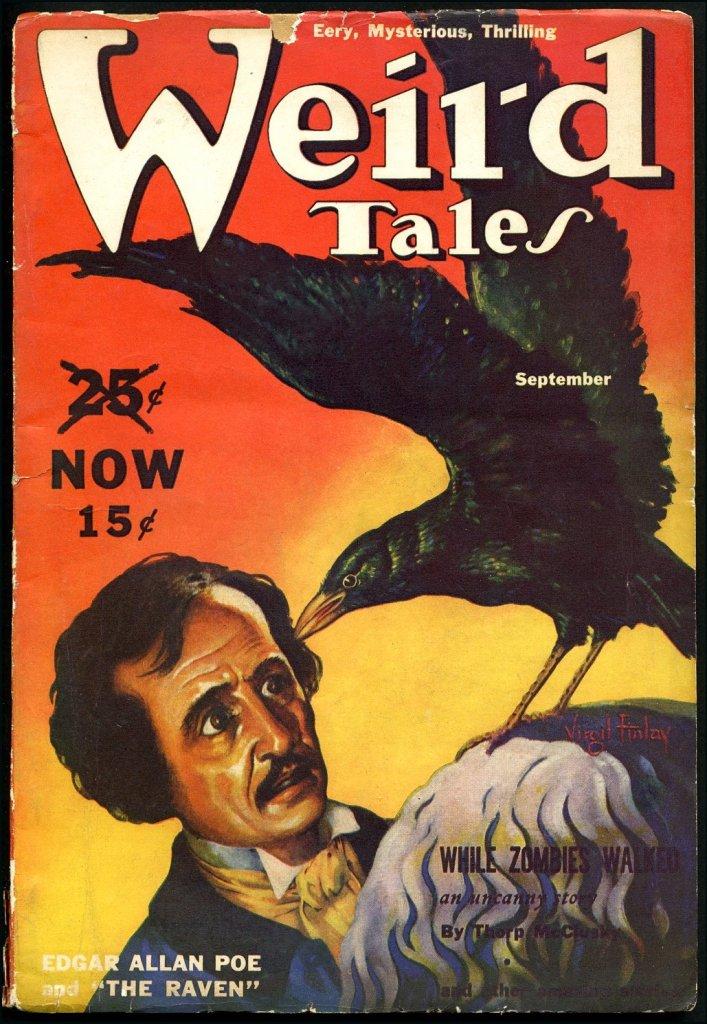 Edgar Allan Poe retratado na publicação que lançou Lovecraft!