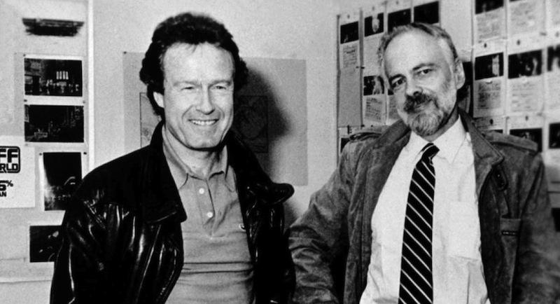 Ridley Scott, diretor da adaptação cinematográfica Blade Runner, ao lado de Philip K. Dick