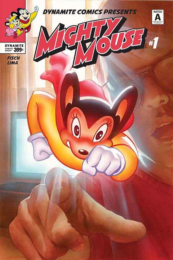 Mighty Mouse, aqui chamado de Super Mouse, retorna após hiato de quase três décadas