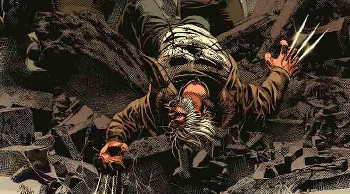 Maestro contra o Velho Logan na arte de Mike Deodato Jr.