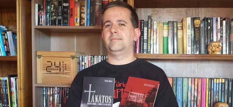 Alfer Medeiros, autor de Livraria Limítrofe - O Adeus, Editora Estronho