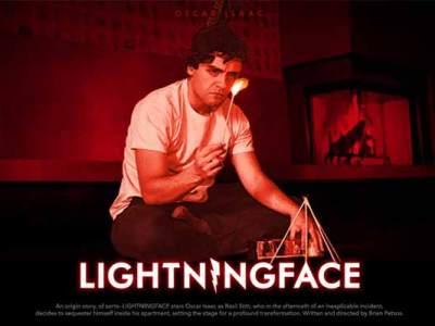 Oscar Isaac se torna um super-herói diferente em Lightningface