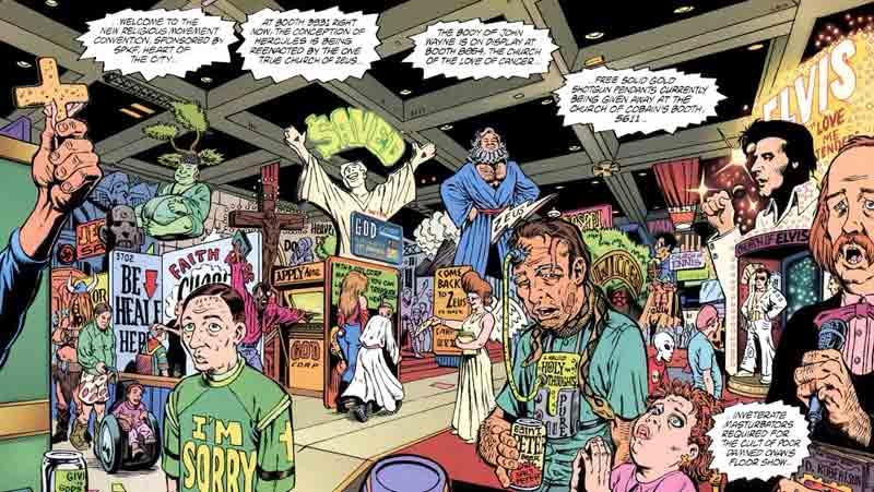 Lista com Cinco HQ's Cyberpunk