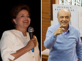 Dilma e Serra estão no 2º turno / Foto: Dorivan Marinho / Rodrigo Coca / Ag. O Globo
