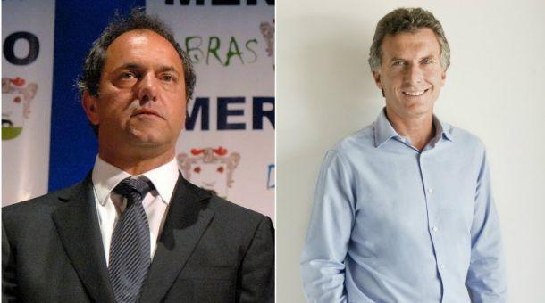 Daniel Scioli e Mauricio Macri disputam segundo turno (Crédito: CBN)