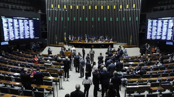 Plenário da Câmara dos Deputados durante sessão plenária (Crédito: Lucio Bernardo Jr. / Câmara dos Deputados)