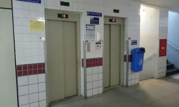 Não houve feridos e o elevador deve voltar a funcionar ainda nesta terça-feira / Foto: Cortesia