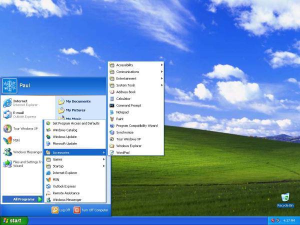Windows XP.