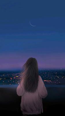Olhando a cidade a noite