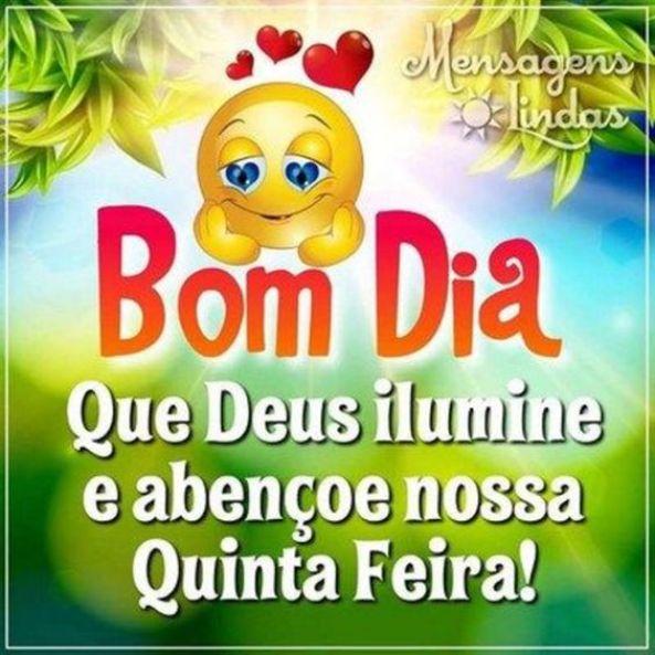Bom Dia Quinta-Feira iluminada por Deus