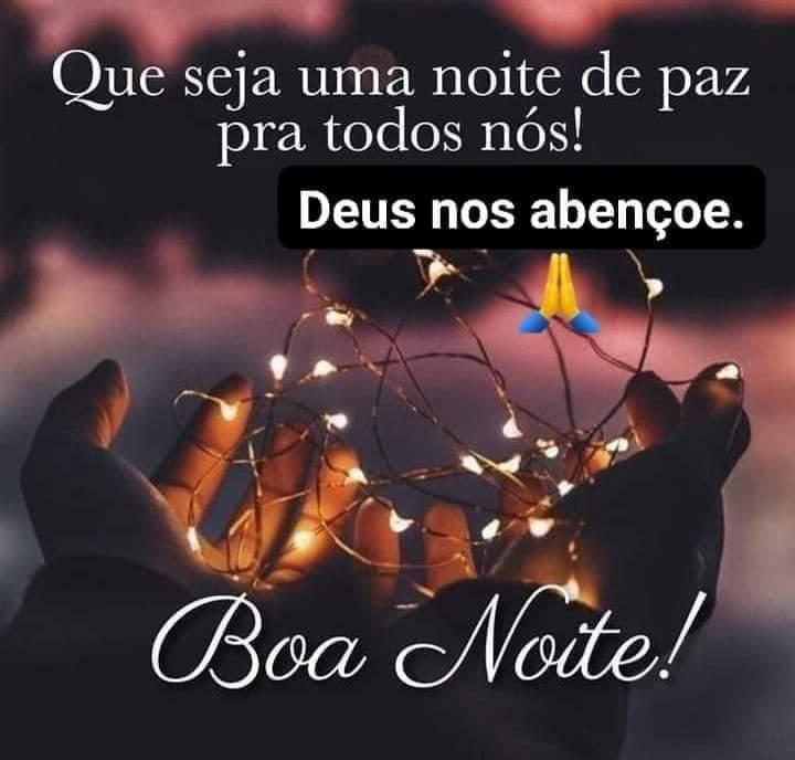 Boa noite com Deus e paz