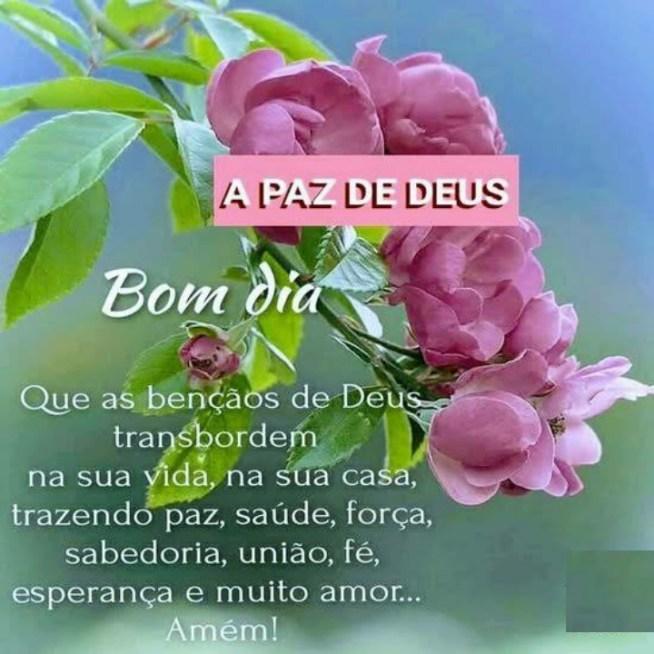 Imagens de Bom Dia com a Paz de Deus para Abençoar seu Dia