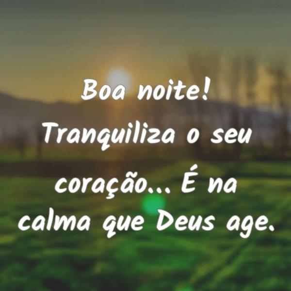Boa Noite com Deus Para aquietar seu coração