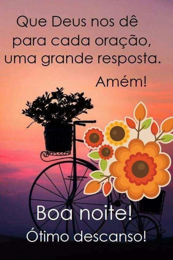 Boa Noite com Deus com muita alegria