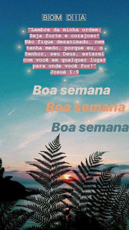 Boa semana com Deus