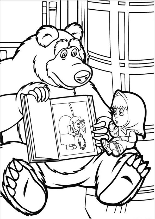 Masha E O Urso Desenhos Para Imprimir Colorir E Pintar