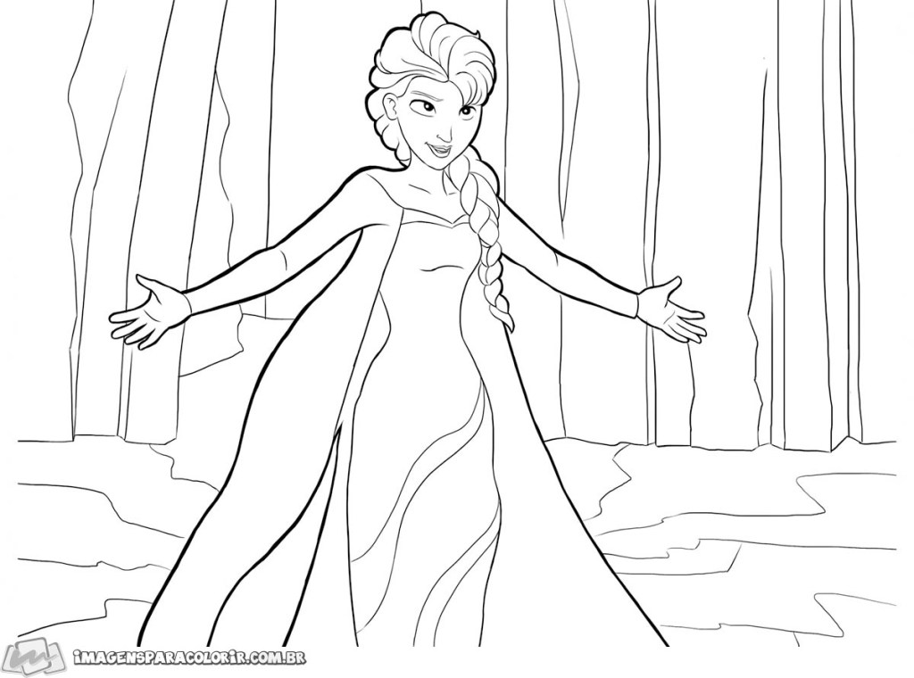 Elsa de braços abertos