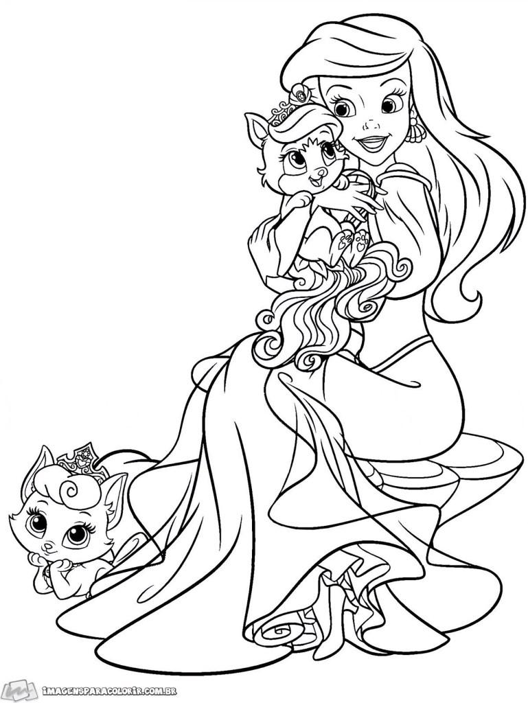 Pequena Sereia - Ariel e gatinhos