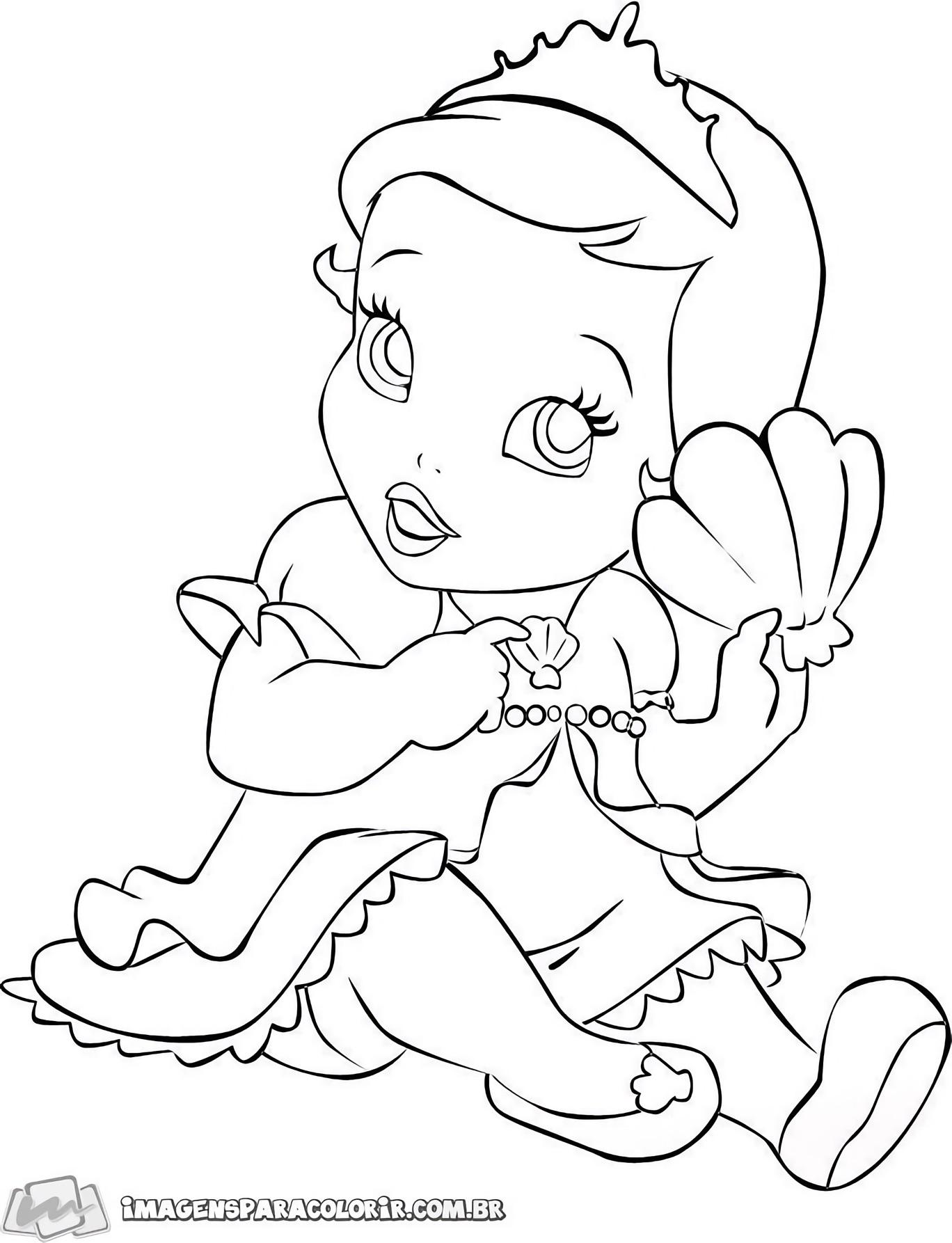 Pequena Sereia - Ariel Baby