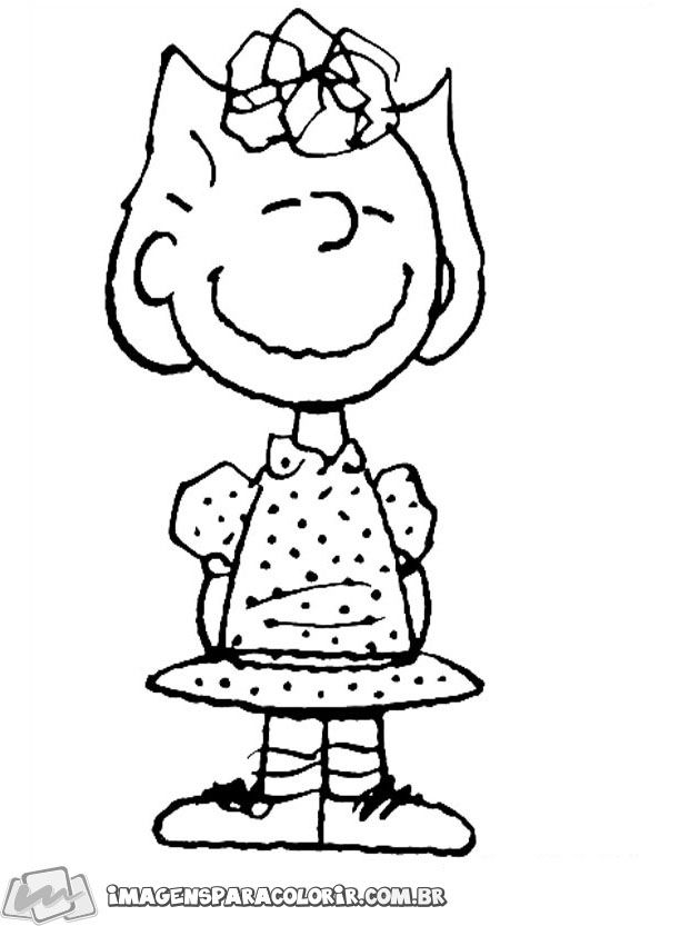 Snoopy para colorir - Sally