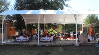 Entregan un domo en el kínder de la comunidad Los Santiagos