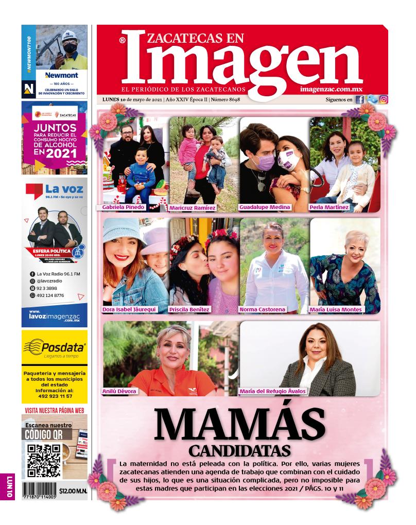 Imagen Zacatecas edición del 10 de mayo de 2021